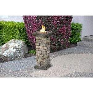Outdoor fire column