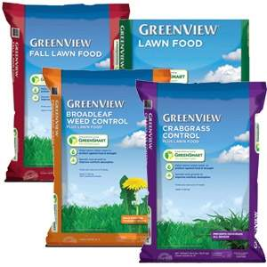 Greenview Lawn fertilizer 4-step